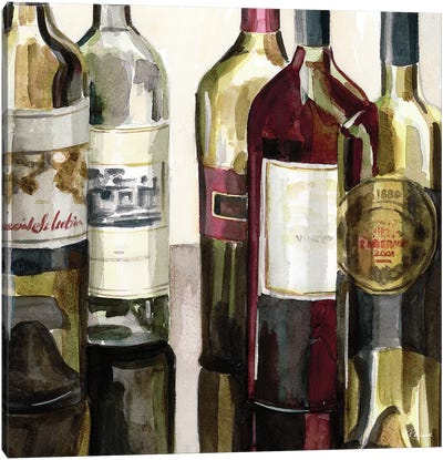 B&G Bottles Square I Canvas Art Print