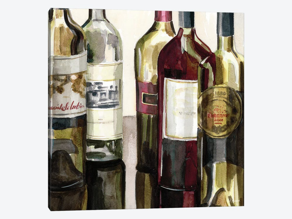 B&G Bottles Square I by Heather A. French-Roussia 1-piece Canvas Art Print