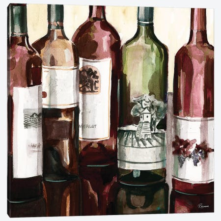B&G Bottles Square II Canvas Print #FRR7} by Heather A. French-Roussia Canvas Art Print
