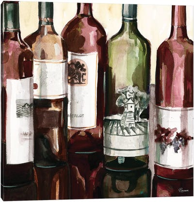 B&G Bottles Square II Canvas Art Print