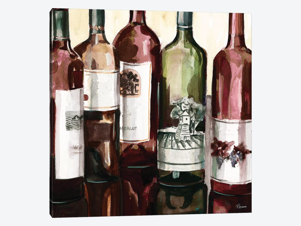 B&G Bottles Square II by Heather A. French-Roussia 1-piece Canvas Artwork