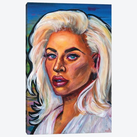 Lady Gaga I Canvas Print #FRT10} by Forrest Stuart Canvas Artwork