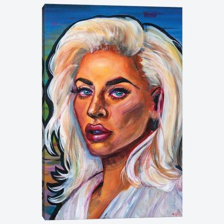 Lady Gaga I Canvas Print #FRT10} by Forrest Stuart Canvas Artwork