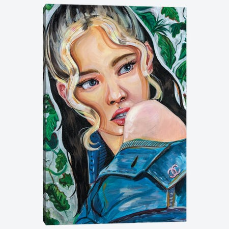 Blackpink Jennie I Canvas Print #FRT14} by Forrest Stuart Canvas Print