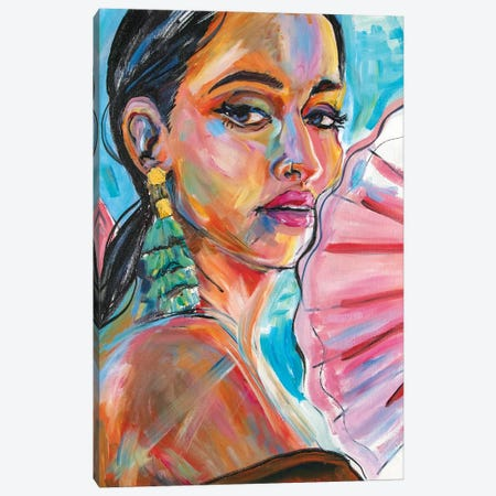 Kacey Musgraves Canvas Print #FRT15} by Forrest Stuart Canvas Art Print