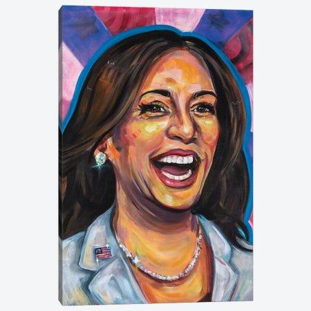 MVP Kamala Harris Canvas Print #FRT18} by Forrest Stuart Canvas Wall Art