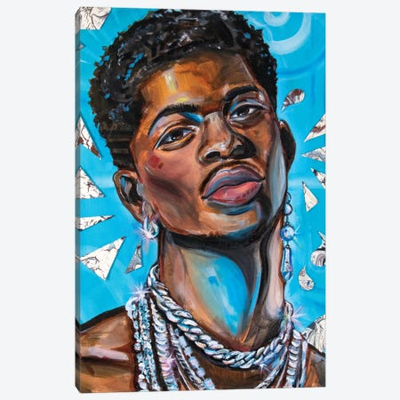 Lil Nas X Canvas Print #FRT21} by Forrest Stuart Canvas Art Print