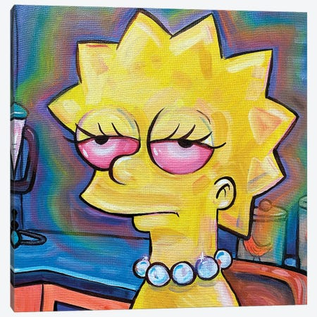 Lisa Simpson Canvas Print #FRT22} by Forrest Stuart Canvas Print