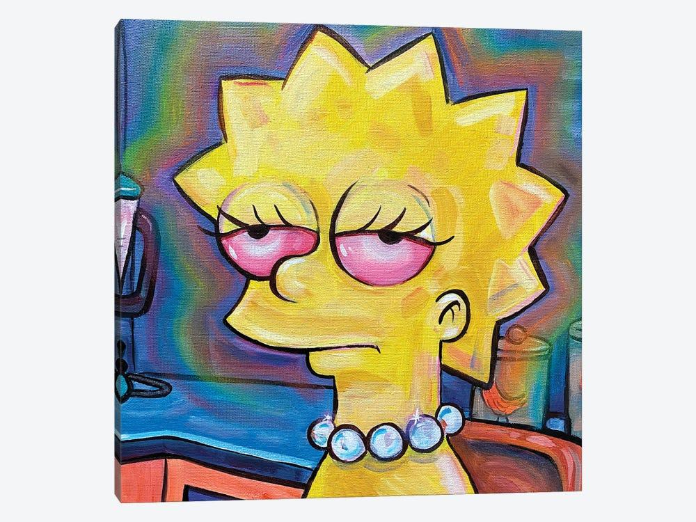 Lisa Simpson by Forrest Stuart 1-piece Canvas Wall Art