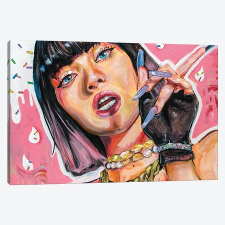 Blackpink Lisa Canvas Print #FRT23} by Forrest Stuart Canvas Art Print