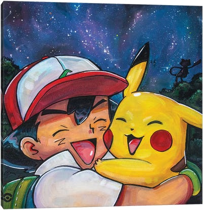 Ash And Pikachu Canvas Art Print