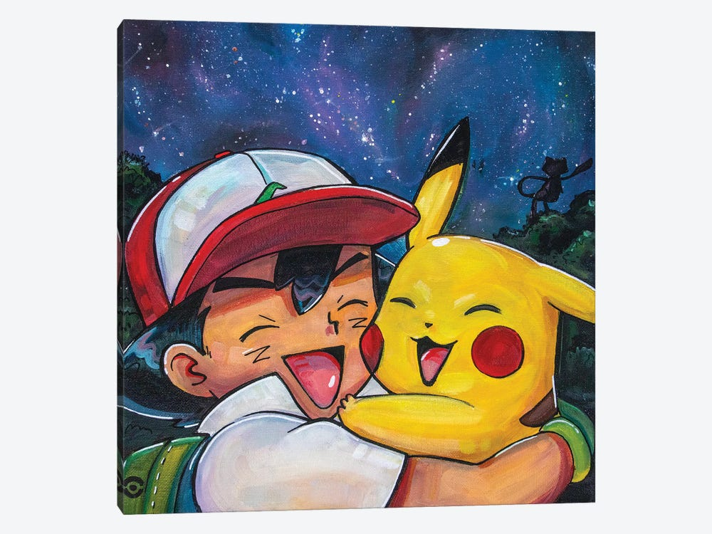 Ash And Pikachu by Forrest Stuart 1-piece Canvas Art