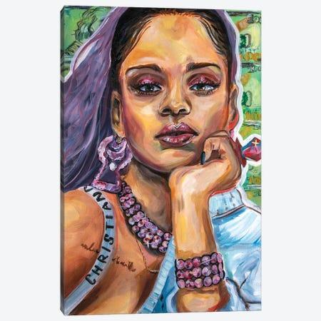 Rihanna Canvas Print #FRT28} by Forrest Stuart Canvas Print