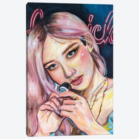 Blackpink Rosé I Canvas Print #FRT29} by Forrest Stuart Canvas Art Print