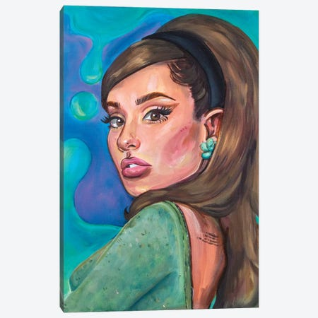 Ariana Grande II Canvas Print #FRT2} by Forrest Stuart Canvas Wall Art