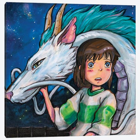 Spirited Away Canvas Print #FRT33} by Forrest Stuart Canvas Wall Art