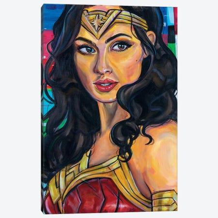 Wonder Woman Canvas Print #FRT34} by Forrest Stuart Canvas Print
