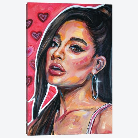 Ariana Grande I Canvas Print #FRT3} by Forrest Stuart Canvas Artwork
