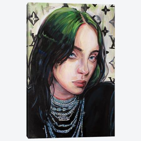 Billie Eilish Canvas Print #FRT4} by Forrest Stuart Canvas Print