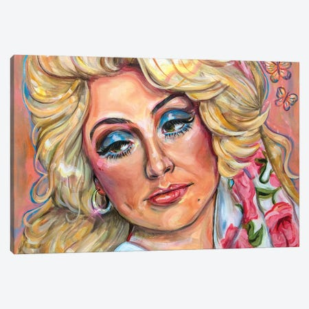 Dolly Parton Canvas Print #FRT6} by Forrest Stuart Art Print
