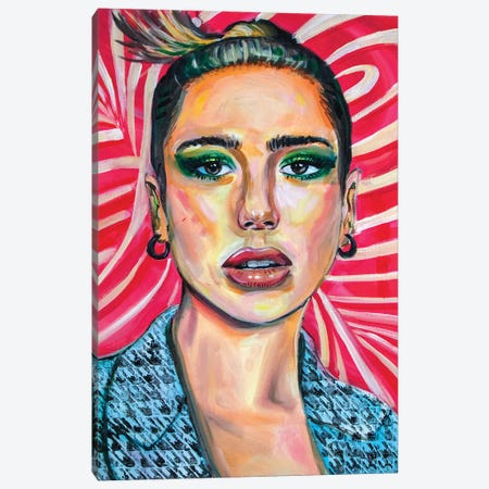 Dua Lipa II Canvas Print #FRT7} by Forrest Stuart Canvas Art Print