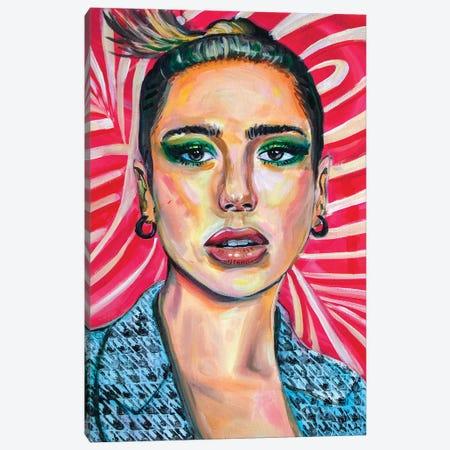 Dua Lipa II Canvas Print #FRT7} by Forrest Stuart Canvas Art Print