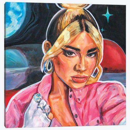 Dua Lipa Canvas Print #FRT8} by Forrest Stuart Canvas Wall Art