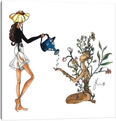 Apryl Showers Bring Mae Flowers Canvas Art Print