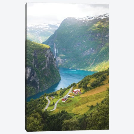 Geiranger Fjord, Norway Canvas Print #FSB18} by Steffen Fossbakk Canvas Art Print