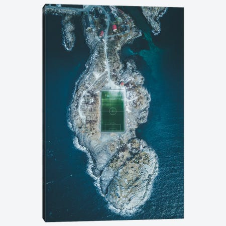 Henningsvær Football Field, Lofoten, Norway Canvas Print #FSB21} by Steffen Fossbakk Canvas Art