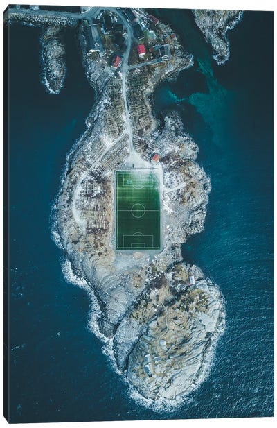 Henningsvær Football Field, Lofoten, Norway Canvas Art Print