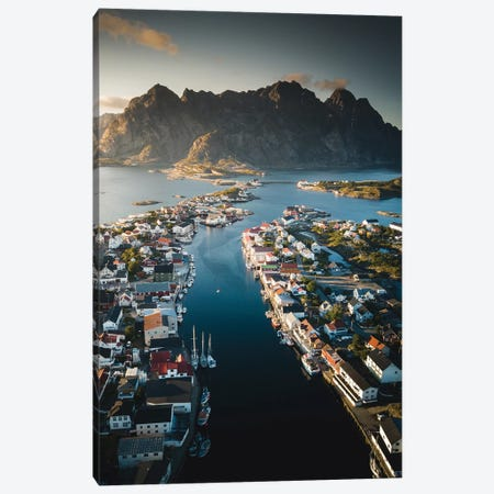 Henningsvær, Lofoten, Norway Canvas Print #FSB22} by Steffen Fossbakk Canvas Wall Art