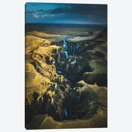 Icelandic Canyons I Canvas Print #FSB26} by Steffen Fossbakk Canvas Art Print