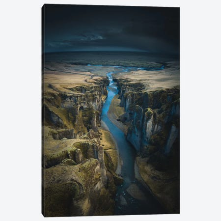 Icelandic Canyons II Canvas Print #FSB27} by Steffen Fossbakk Canvas Art Print