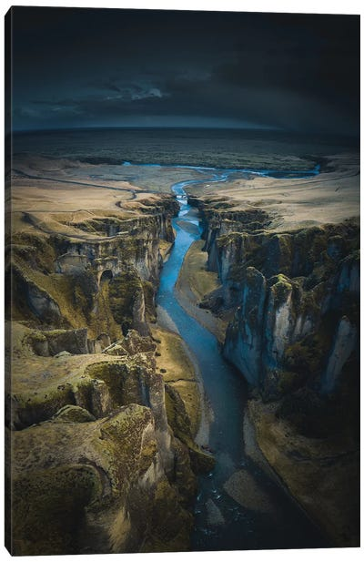 Icelandic Canyons II Canvas Art Print