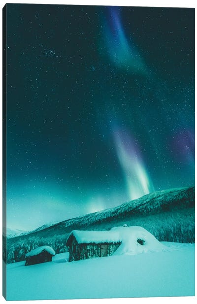 100 Year Old Cabin In Senja, Norway Canvas Art Print