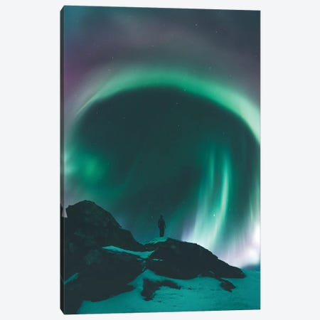 Aurora Portal, Senja, Norway Canvas Print #FSB3} by Steffen Fossbakk Canvas Art