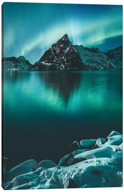 Olstinden by Night Canvas Art Print