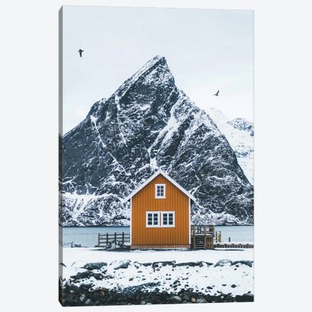 Olstinden, Lofoten Canvas Print #FSB41} by Steffen Fossbakk Canvas Art