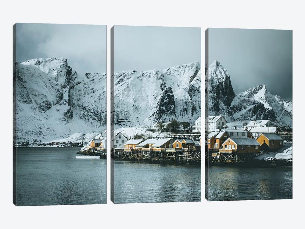 Sakrisøy Fishing Village, Lofoten islands, Norway by Steffen Fossbakk 3-piece Canvas Art