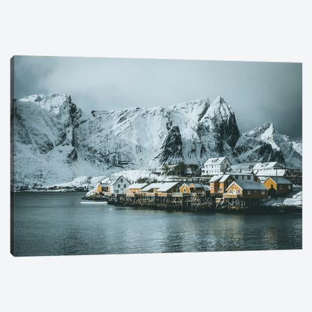 Sakrisøy Fishing Village, Lofoten islands, Norway Canvas Print #FSB47} by Steffen Fossbakk Canvas Art Print