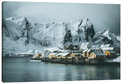 Sakrisøy Fishing Village, Lofoten islands, Norway Canvas Art Print