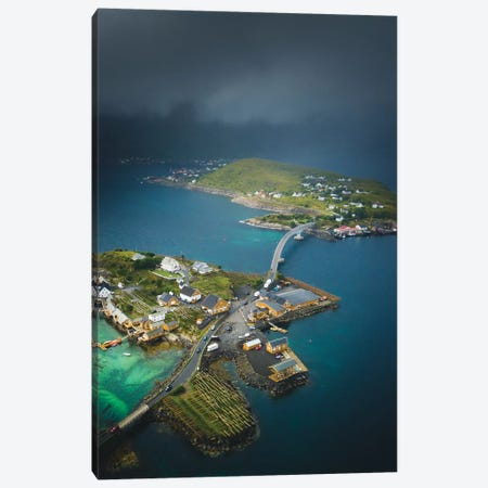 Sakrisøy, Lofoten, Norway Canvas Print #FSB48} by Steffen Fossbakk Canvas Artwork