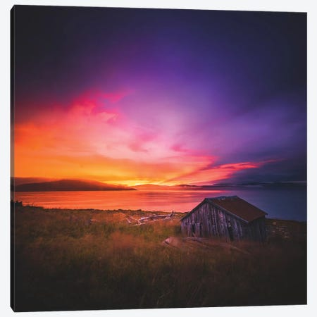 Senja Sunsets Canvas Print #FSB50} by Steffen Fossbakk Art Print