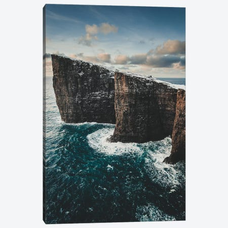 Slave Cliffs, Faroe Islands Canvas Print #FSB53} by Steffen Fossbakk Art Print