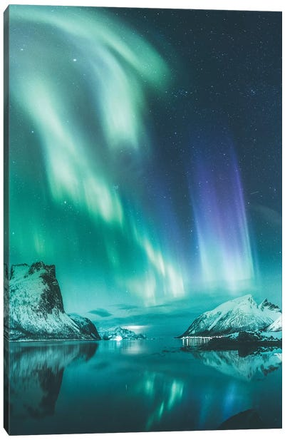 Bergsbotn, Senja, Norway Canvas Art Print