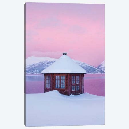 Cold Mornings In Senja Canvas Print #FSB67} by Steffen Fossbakk Art Print