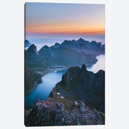 Midnight Hikes In The Fairy Tale Island Canvas Print #FSB84} by Steffen Fossbakk Canvas Print