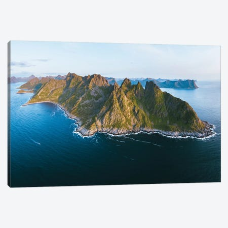 Rugged Landscapes Of Senja Island Canvas Print #FSB97} by Steffen Fossbakk Canvas Art