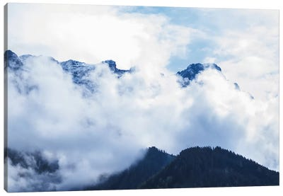 Cloudy Mountain I Canvas Art Print